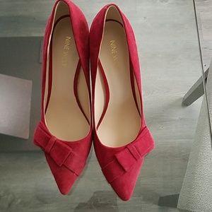 Brand New Nine West KAMRYN Red Suede Heels